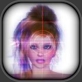 High-tech face technology background Stock Photos
