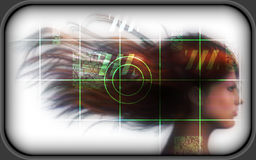 High-tech face technology background Royalty Free Stock Image