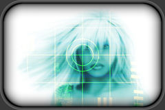 High-tech face technology background Royalty Free Stock Photos