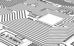 High-tech graphics monochrome background Royalty Free Stock Images