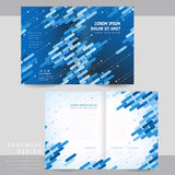 High-tech half-fold brochure template design Royalty Free Stock Photography