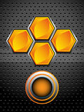 High tech honeycomb design Royalty Free Stock Photography