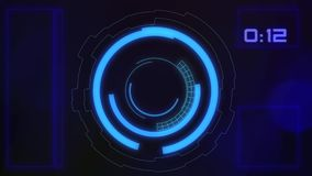 Futuristic HUD graphic user interface stock footage