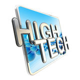 High tech icon isolated on white Royalty Free Stock Image