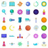 High tech icons set, cartoon style. High tech icons set. Cartoon style of 36 high tech vector icons for web isolated on white background Royalty Free Stock Image