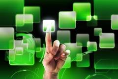 High-tech interface-green stock photography