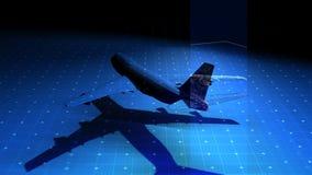 High Tech Jet Aircraft Matrix Royalty Free Stock Photo