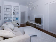 High-tech living room design Royalty Free Stock Photos