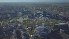 High-tech Moderne gebouwen in Astana stock videobeelden