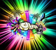 High Tech Music Disco Background Stock Photography