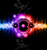 High Tech Music Disco Background Stock Image