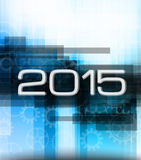2015 high tech new year background Stock Photo
