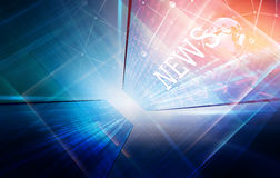 High-Tech News  Studio Background Concept Series. High-Tech News  Studio Background, 3d illustration Royalty Free Stock Images