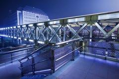 High-tech pedestrian bridge, Beijing Stock Photo