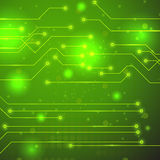 High Tech Printed Circuit Board. Modern Computer Technology Green Background. Circuit Board Pattern. High Tech Printed Circuit Board Stock Images