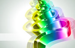High Tech Rainbow Business Card Stock Image