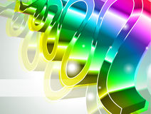 High Tech Rainbow Business Card Stock Photography
