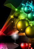 High tech rainbow Chrstmas background Royalty Free Stock Image