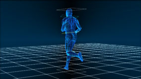 High Tech Running Man (Loop) stock footage