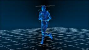 High Tech Running Man (Loop) Stock Photo