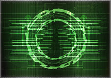 High tech. Set of lines on a green background Royalty Free Stock Images