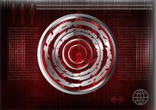 High tech. Set of lines on a red background Stock Photos