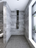 High-tech shower separate from bathroom Stock Photography