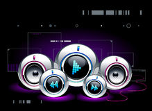 High tech sound system Stock Images
