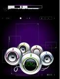 High tech sound system Stock Image