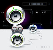 High tech sound system Royalty Free Stock Image