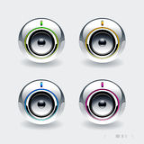 High tech speakers Royalty Free Stock Photo