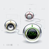 High tech speakers Royalty Free Stock Images