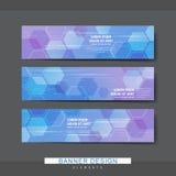 High-tech style banner template design Stock Photos