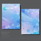 High-tech style brochure template design Royalty Free Stock Photography