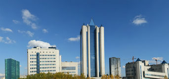 HIGH-TECH STYLE BUILDING. Panorama Royalty Free Stock Photos