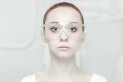 High tech style portrait Stock Images
