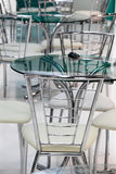 High tech tables and chairs Stock Image