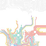High-tech technology abstract background Stock Images