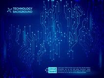 Blue circuit board vector illustration. vector illustration