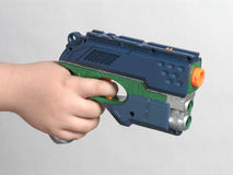 High tech toy gun Stock Photo