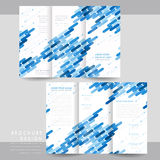 High-tech tri-fold brochure template design Royalty Free Stock Photography