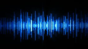 High-tech waveform. Blue high-tech waveform (seamless loop vector illustration