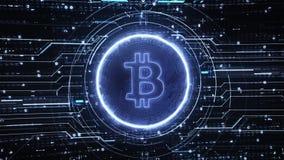 High-Teche Hintergründe Schleife Bitcoin stock video footage