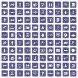 100 High-Teche Ikonen stellten Schmutzsaphir ein Stockfoto