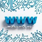 High-Teche Illustration des World Wide Web Lizenzfreie Stockbilder