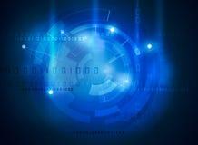 High-Teche Schnittstelle der futuristischen Daten lizenzfreie abbildung
