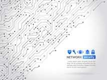High-Teche Technologiehintergrundbeschaffenheit Netzwerksicherheitsikonen Lizenzfreies Stockfoto