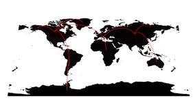 High-Teche Weltkarte Lizenzfreie Stockbilder