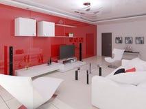 High-Teches Design des Wohnzimmers Lizenzfreies Stockfoto