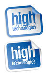 High technologies stickers. High technologies vector stickers set Stock Photos